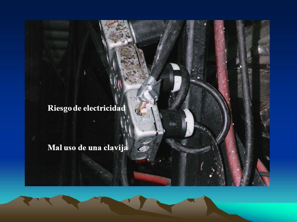 Riesgo de electricidad Mal uso de una clavija