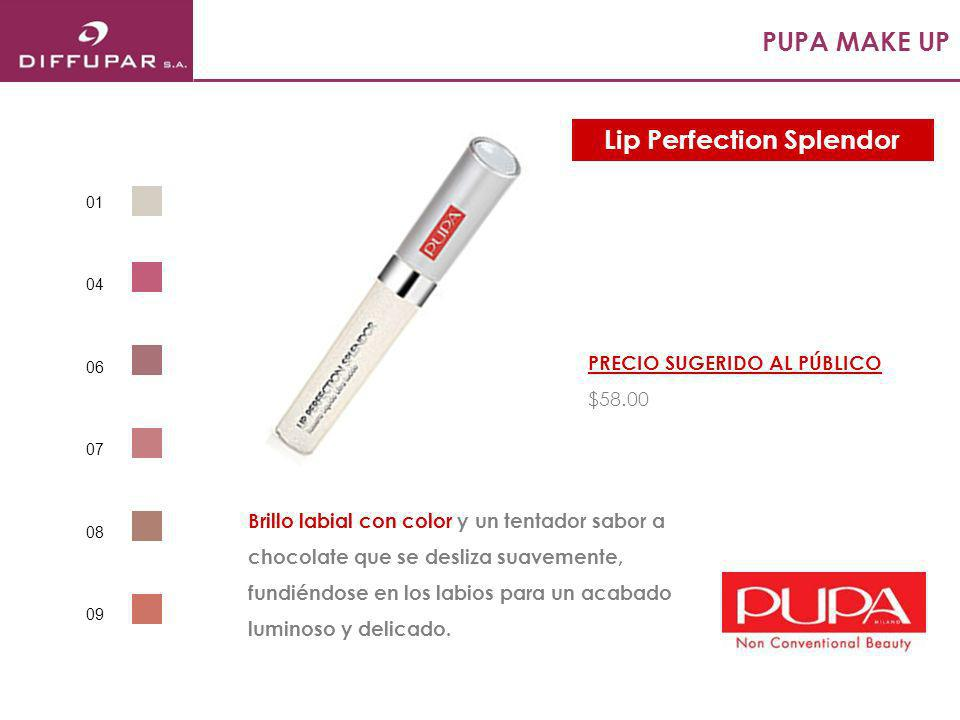 PUPA MAKE UP Ultra confortable, no transfer y con una duración de hasta 14 horas aporta un color suave y natural a la piel mientras la hidrata y protege con SPF 15.