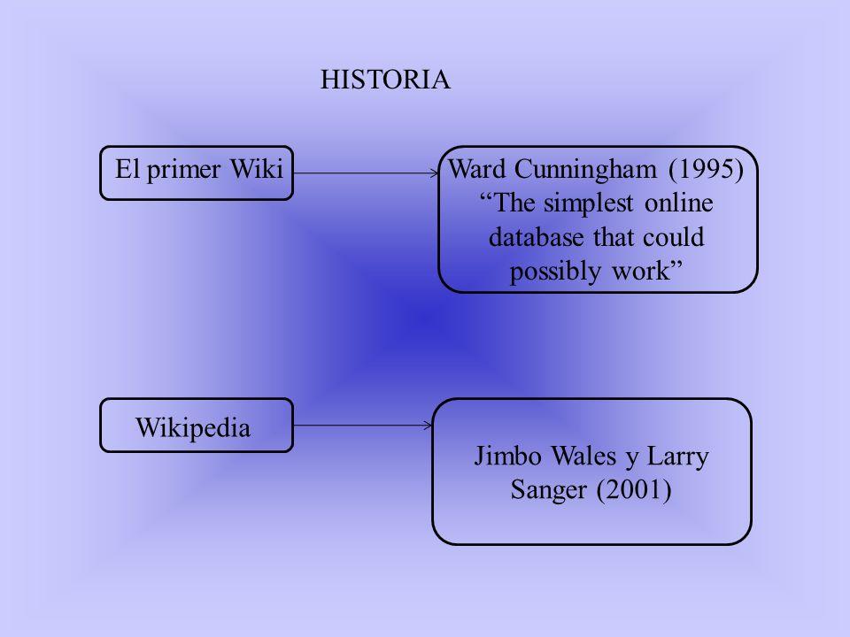 VENTAJAS La principal utilidad de un wiki es que permite crear y mejorar las páginas de forma instantánea, dando una gran libertad al usuario, y por medio de una interfaz muy simple.