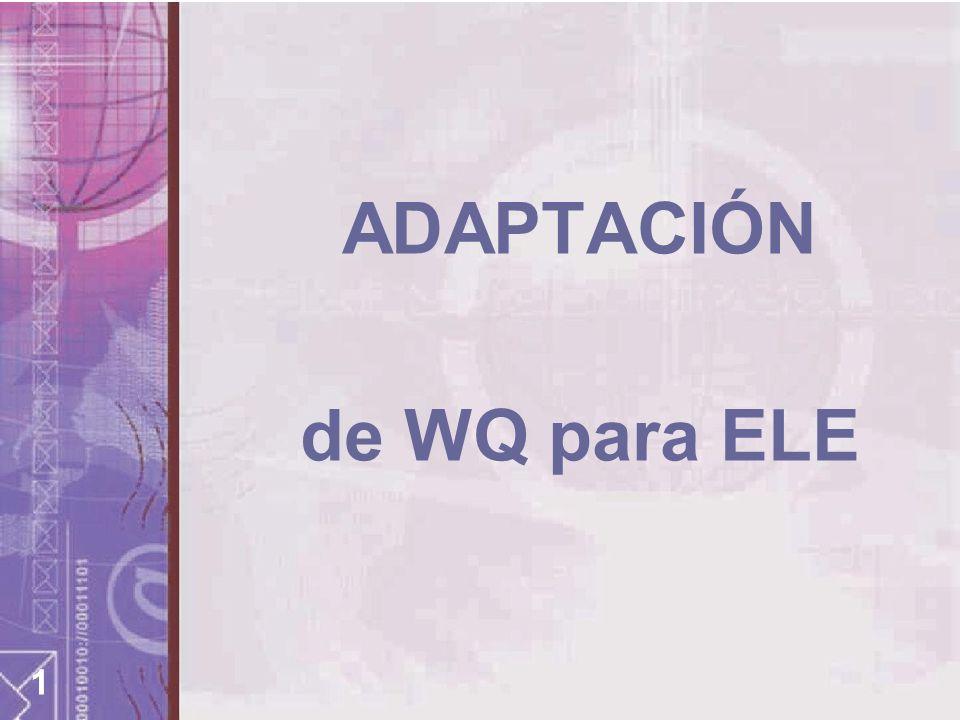 1 ADAPTACIÓN de WQ para ELE