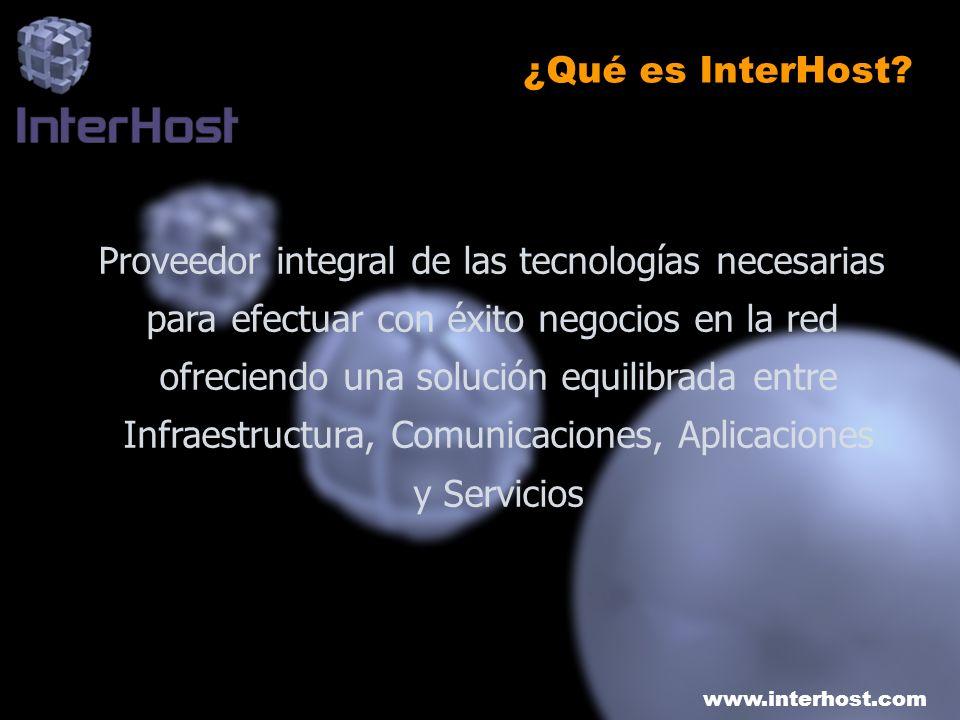www.interhost.com SATEC Convex Convex Portugal Innosec Cybermercado Portal Asegurador InterHost QS Media Grupo SATEC InterHost forma parte del Grupo SATEC que incluye: