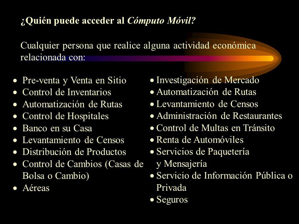 Ejemplos de Cómputo Móvil