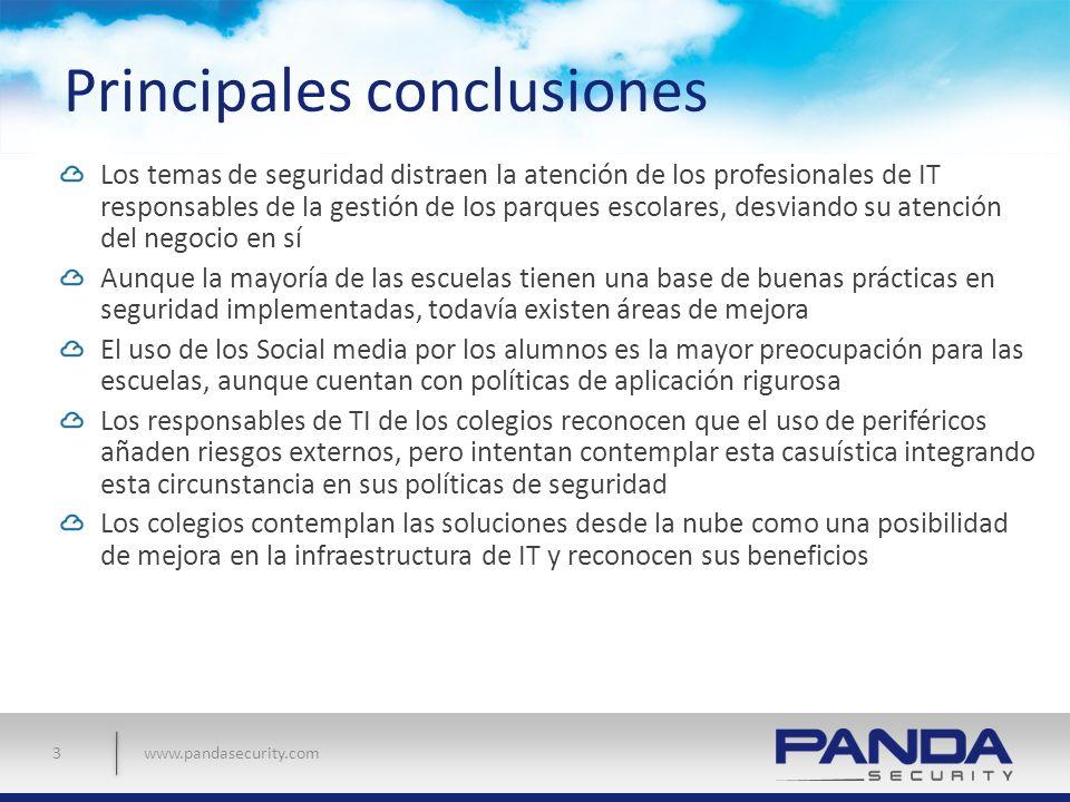 www.pandasecurity.com Principales conclusiones Los temas de seguridad distraen la atención de los profesionales de IT responsables de la gestión de lo