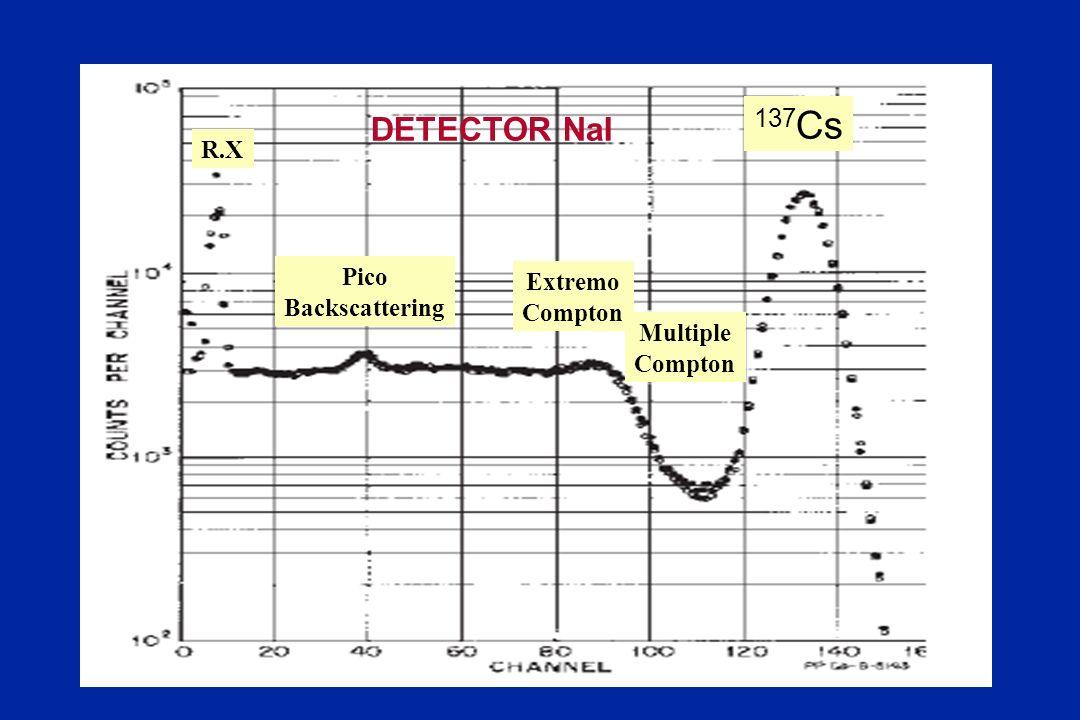 137 Cs Extremo Compton Multiple Compton Pico Backscattering R.X DETECTOR NaI