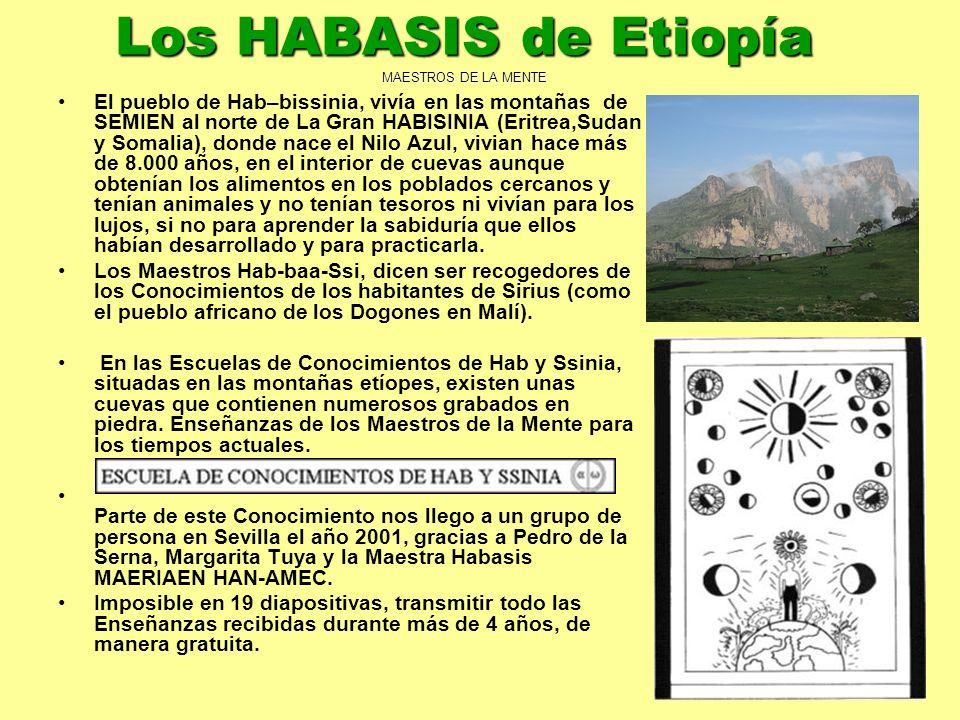 2 El pueblo de Hab–bissinia, vivía en las montañas de SEMIEN al norte de La Gran HABISINIA (Eritrea,Sudan y Somalia), donde nace el Nilo Azul, vivian