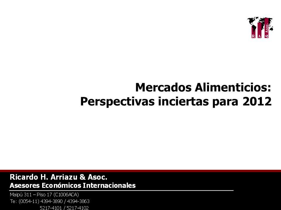 Mercados Alimenticios: Perspectivas inciertas para 2012