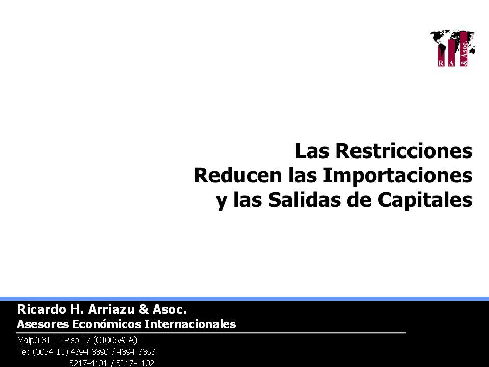 Las Restricciones Reducen las Importaciones y las Salidas de Capitales