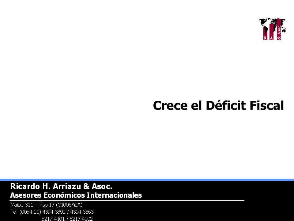 Crece el Déficit Fiscal