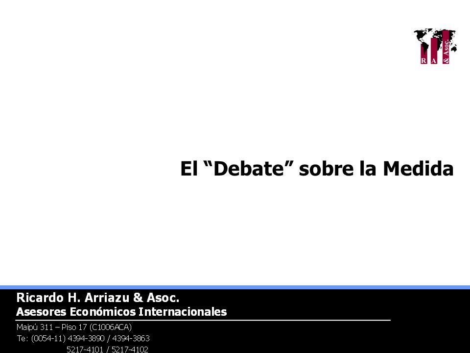 El Debate sobre la Medida