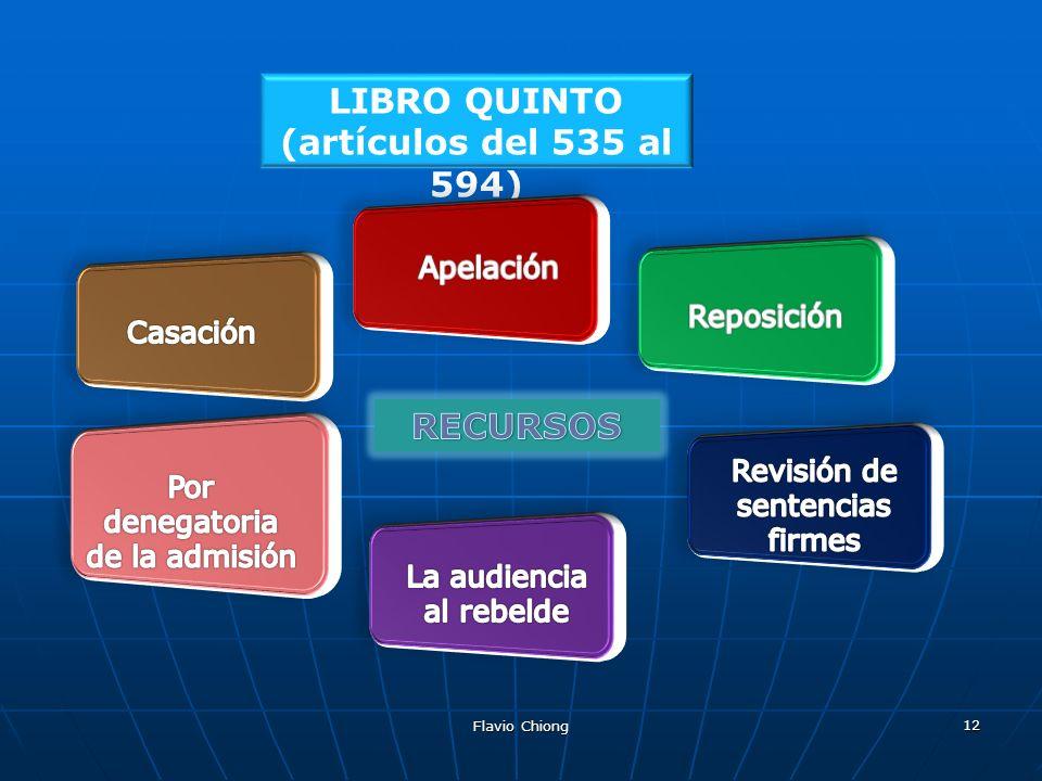 Flavio Chiong 12 LIBRO QUINTO (artículos del 535 al 594)