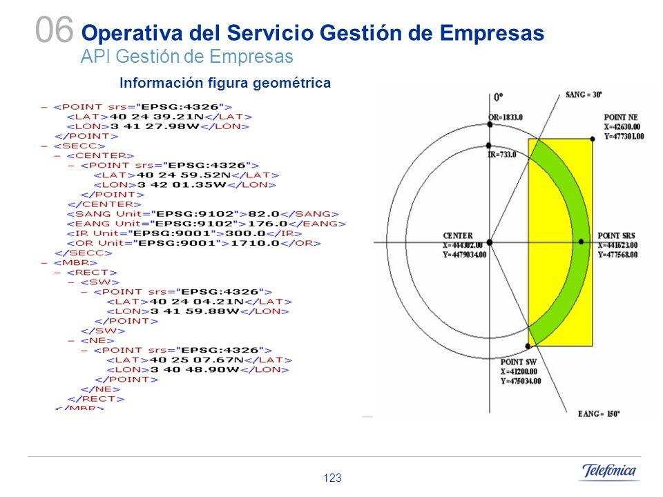 123 Operativa del Servicio Gestión de Empresas API Gestión de Empresas 06 Información figura geométrica
