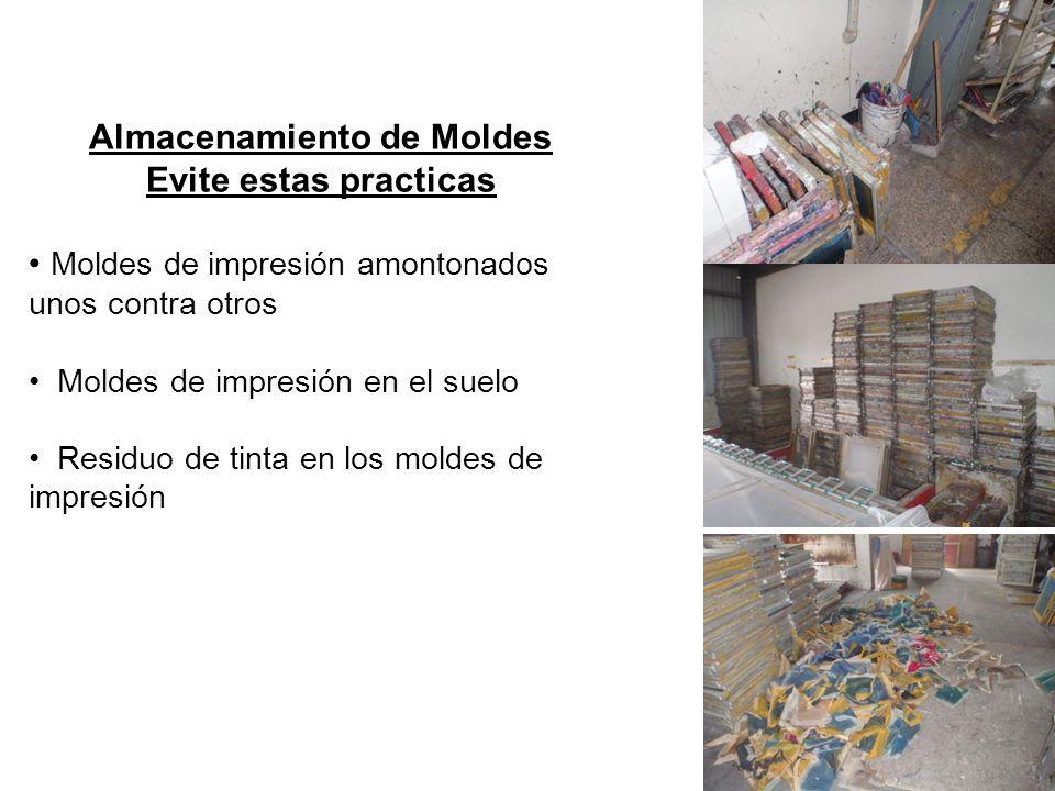 Almacenamiento de la Rasqueta de Caucho/Herramientas de Mezcla Reglas de Operación Rasqueta / herramientas completamente limpias y secas antes de almacenarlas Agentes de limpieza debidamente etiquetados.