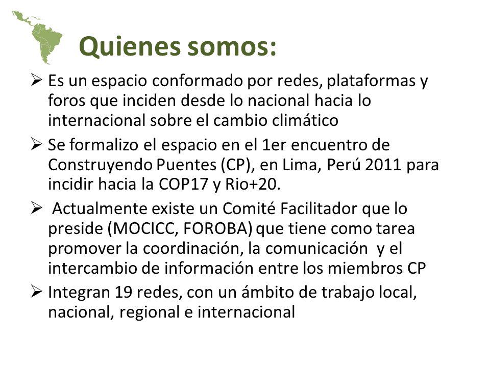 Acciones realizadas: Se cuenta con una lista electrónica que mantiene la comunicación y el intercambio de información referente al cambio climático.