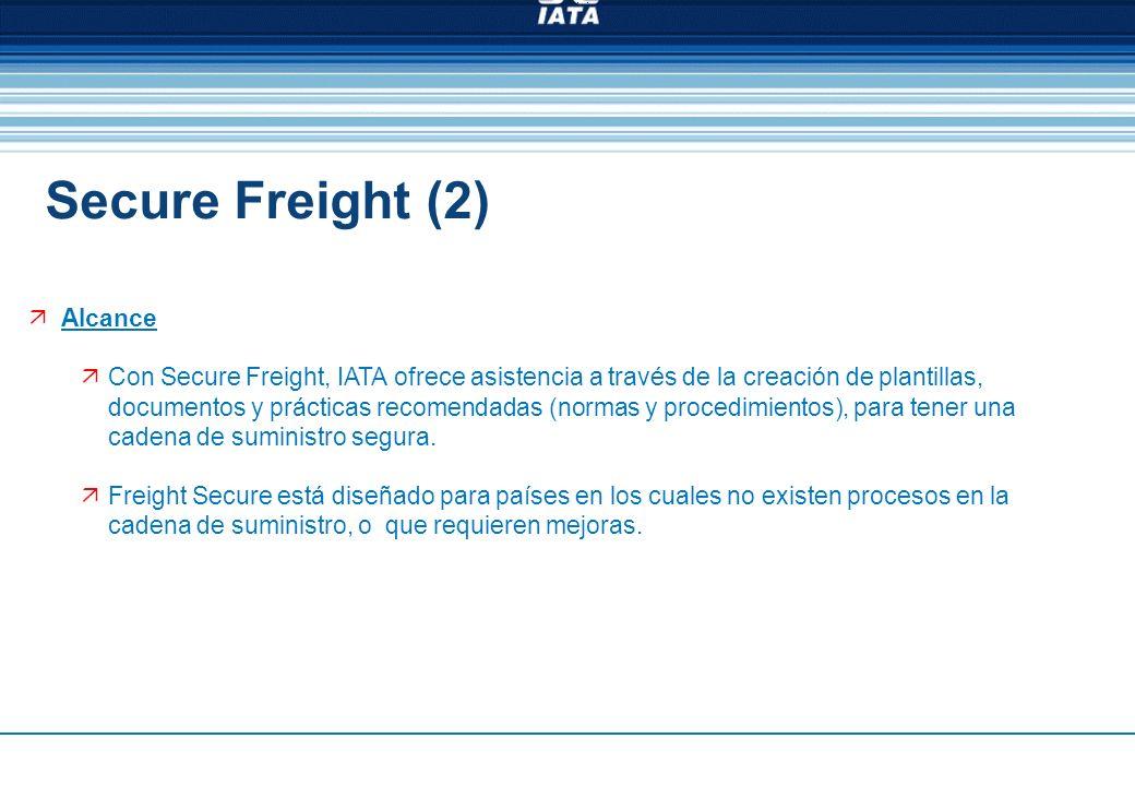 Alcance Con Secure Freight, IATA ofrece asistencia a través de la creación de plantillas, documentos y prácticas recomendadas (normas y procedimientos