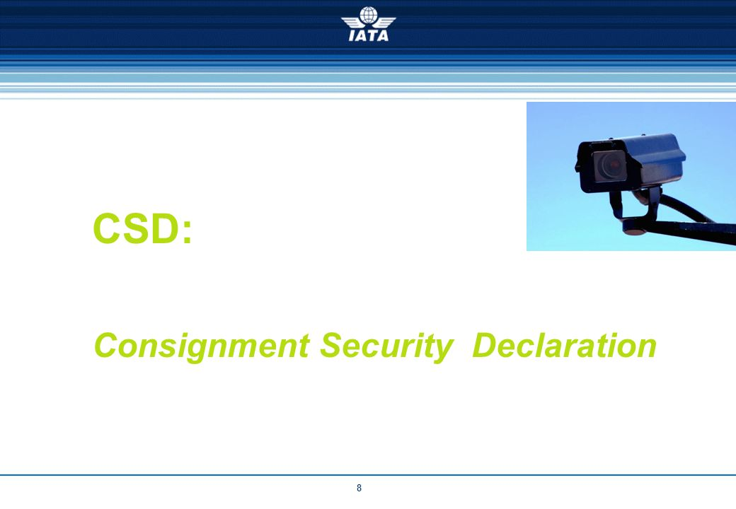 8 CSD: Consignment Security Declaration