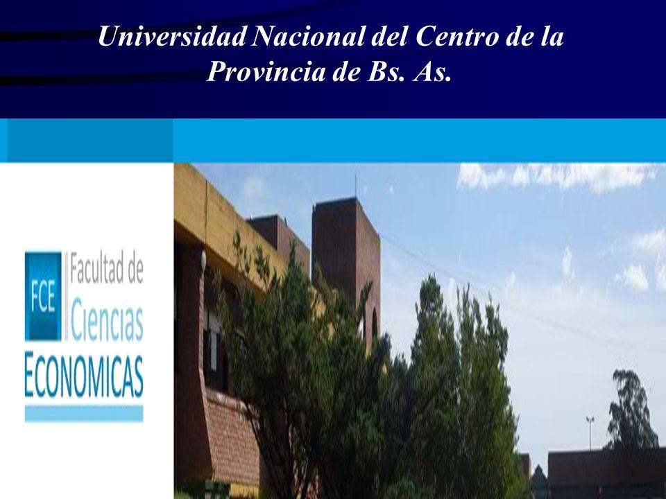 Universidad Nacional del Centro de la Provincia de Bs. As.