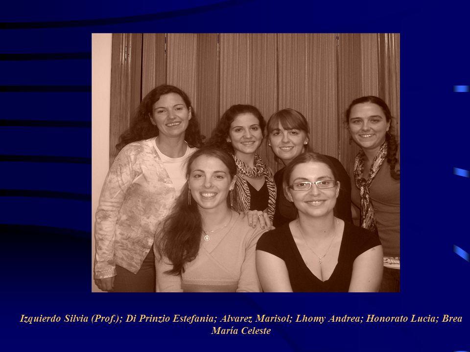 Izquierdo Silvia (Prof.); Di Prinzio Estefania; Alvarez Marisol; Lhomy Andrea; Honorato Lucia; Brea María Celeste