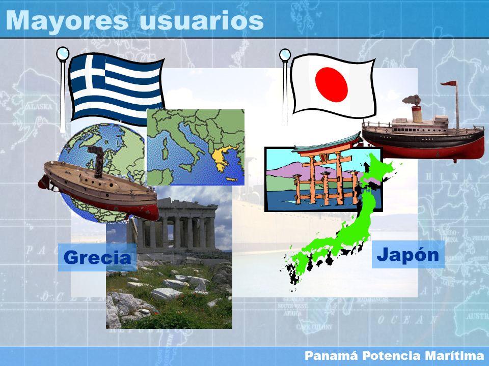 Panamá Potencia Marítima Mayores usuarios Japón Grecia