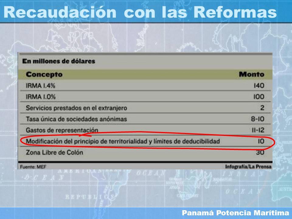 Panamá Potencia Marítima Recaudación con las Reformas