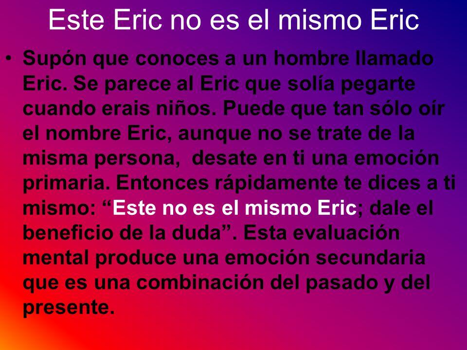 Este Eric no es el mismo Eric Supón que conoces a un hombre llamado Eric. Se parece al Eric que solía pegarte cuando erais niños. Puede que tan sólo o