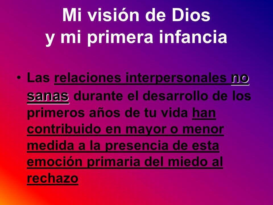 Mi visión de Dios y mi primera infancia no sanasLas relaciones interpersonales no sanas durante el desarrollo de los primeros años de tu vida han cont