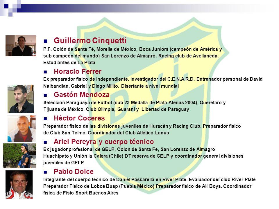 Guillermo Cinquetti P.F. Colón de Santa Fé, Morelia de México, Boca Juniors (campeón de América y sub campeón del mundo) San Lorenzo de Almagro, Racin
