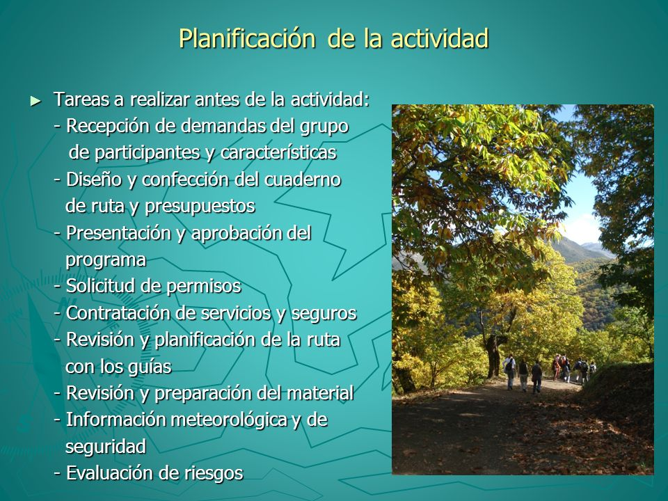 Planificación de la actividad Tareas a realizar antes de la actividad: Tareas a realizar antes de la actividad: - Recepción de demandas del grupo de p