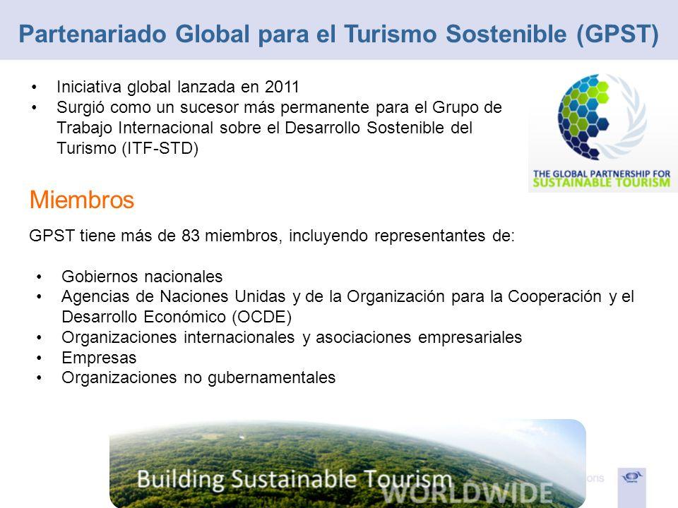 Iniciativa global lanzada en 2011 Surgió como un sucesor más permanente para el Grupo de Trabajo Internacional sobre el Desarrollo Sostenible del Turi