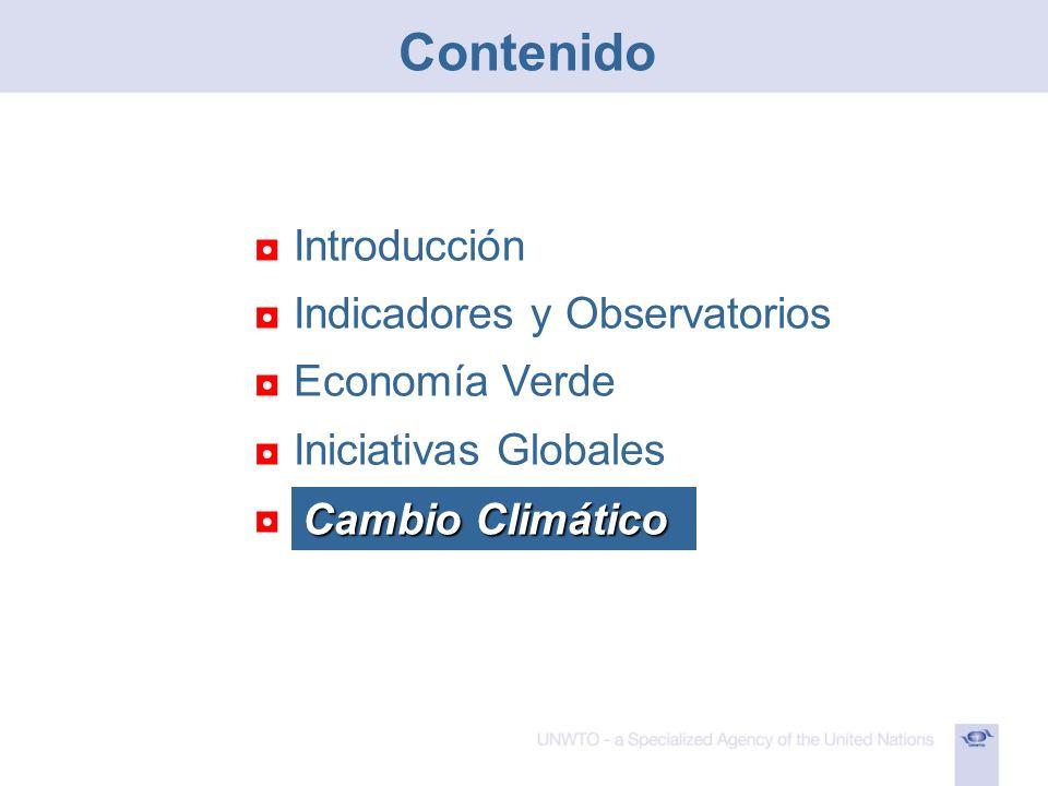 Introducción Indicadores y Observatorios Economía Verde Iniciativas Globales Resoluciones Cambio Climático Contenido