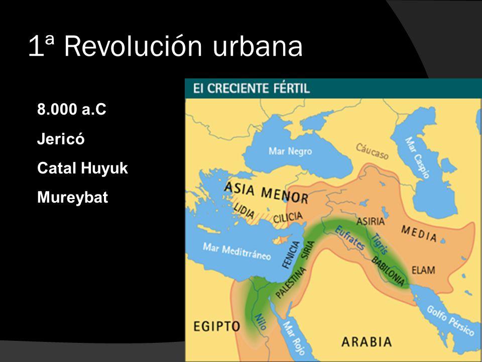 1ª Revolución urbana 8.000 a.C Jericó Catal Huyuk Mureybat