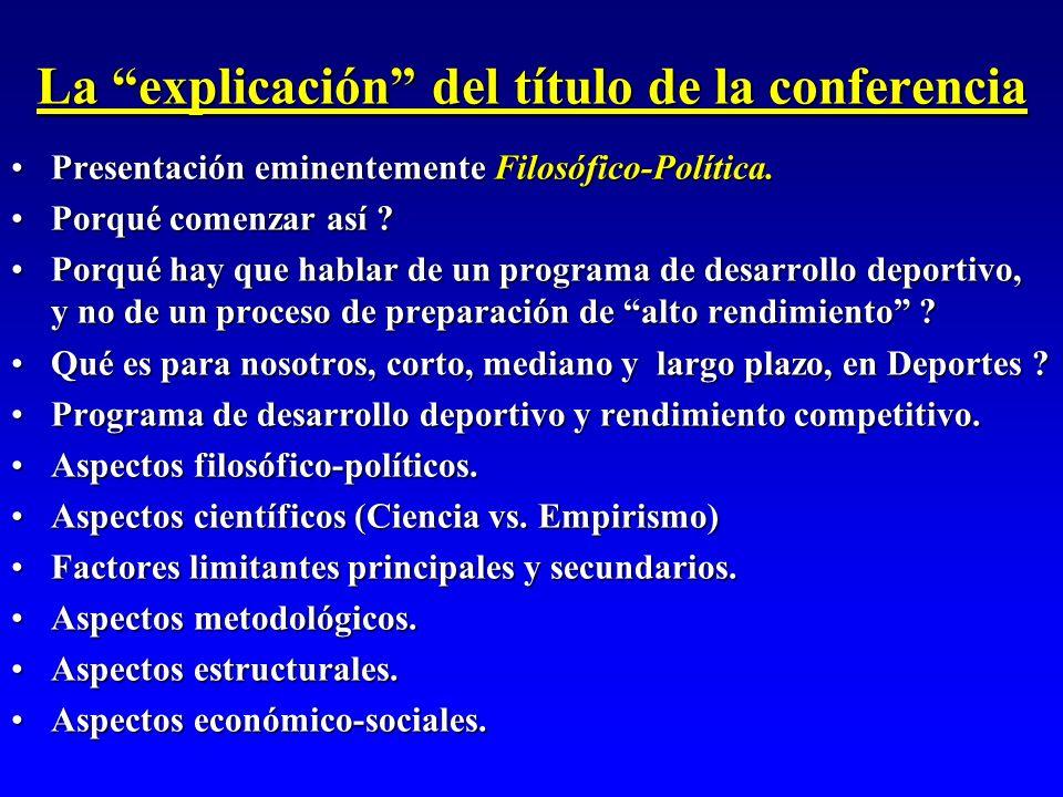 La explicación del título de la conferencia Presentación eminentemente Filosófico-Política.Presentación eminentemente Filosófico-Política. Porqué come