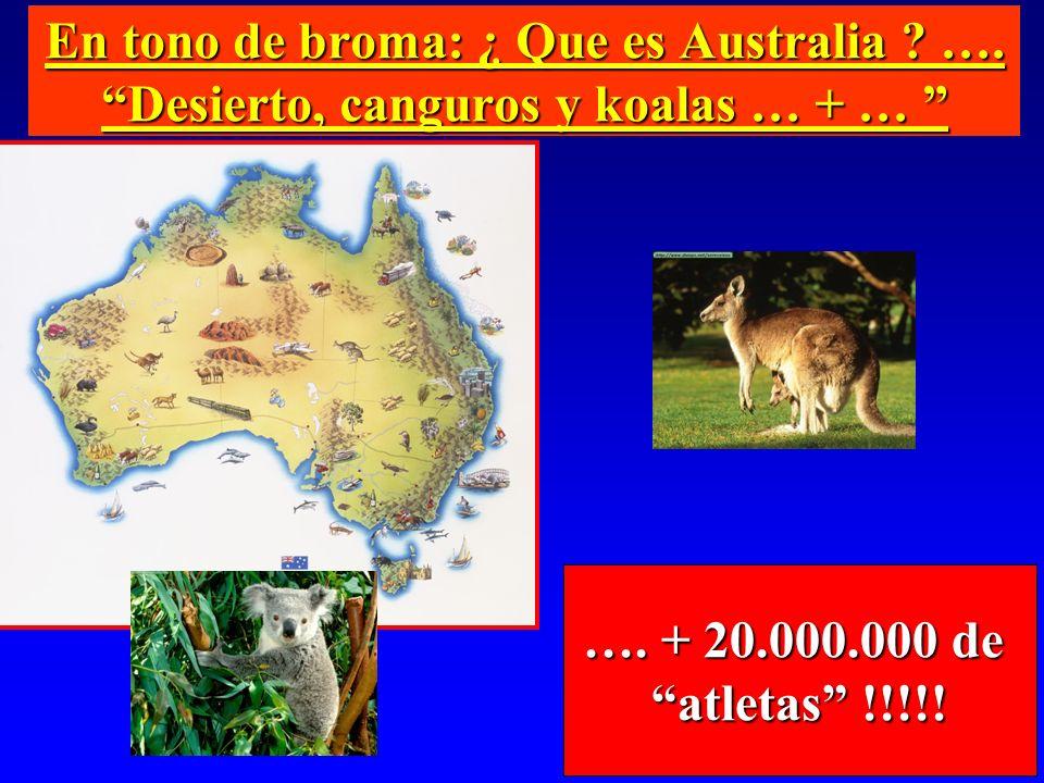 En tono de broma: ¿ Que es Australia ? …. Desierto, canguros y koalas … + … En tono de broma: ¿ Que es Australia ? …. Desierto, canguros y koalas … +