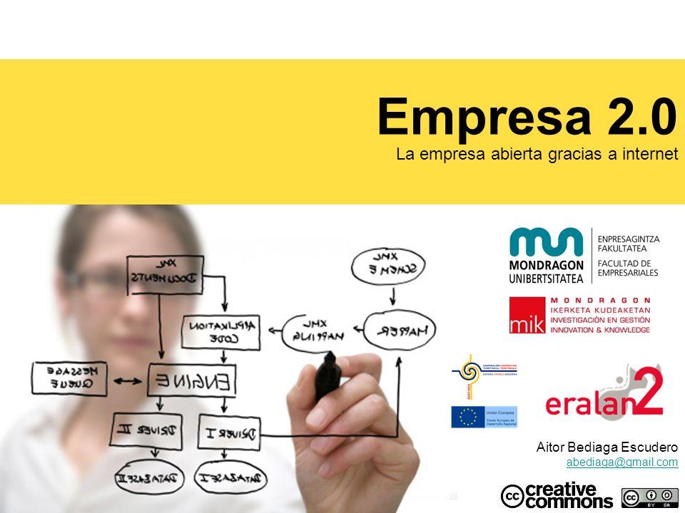 Empresa 2.0 La empresa abierta gracias a internet Aitor Bediaga Escudero abediaga@gmail.com