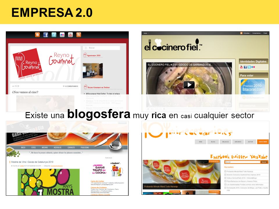 Existe una blogosfera muy rica en casi cualquier sector EMPRESA 2.0