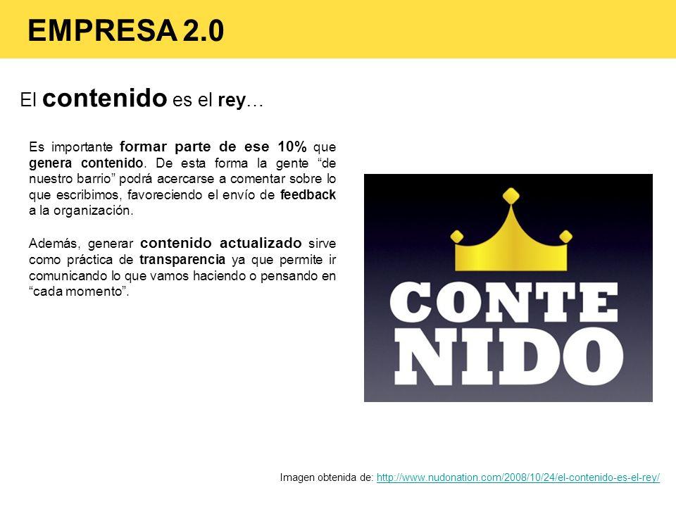 El contenido es el rey… Imagen obtenida de: http://www.nudonation.com/2008/10/24/el-contenido-es-el-rey/http://www.nudonation.com/2008/10/24/el-conten