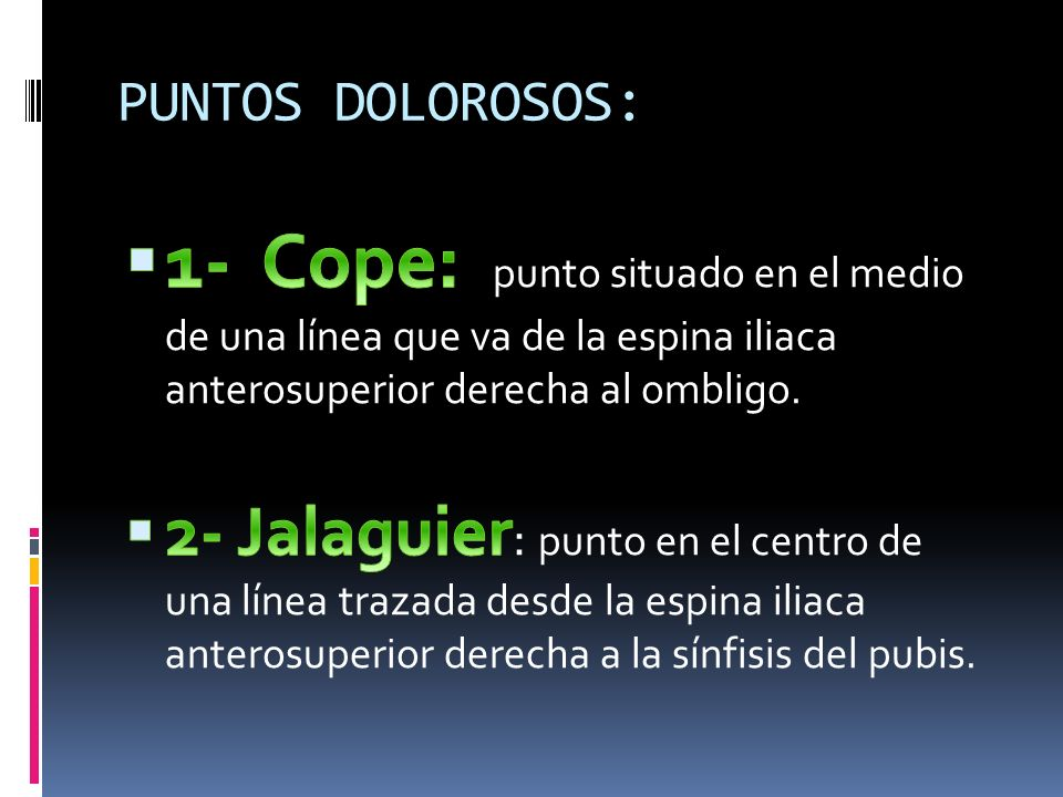 PUNTOS DOLOROSOS: