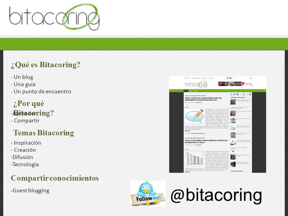 ¿Qué es Bitacoring. ¿Por qué Bitacoring.