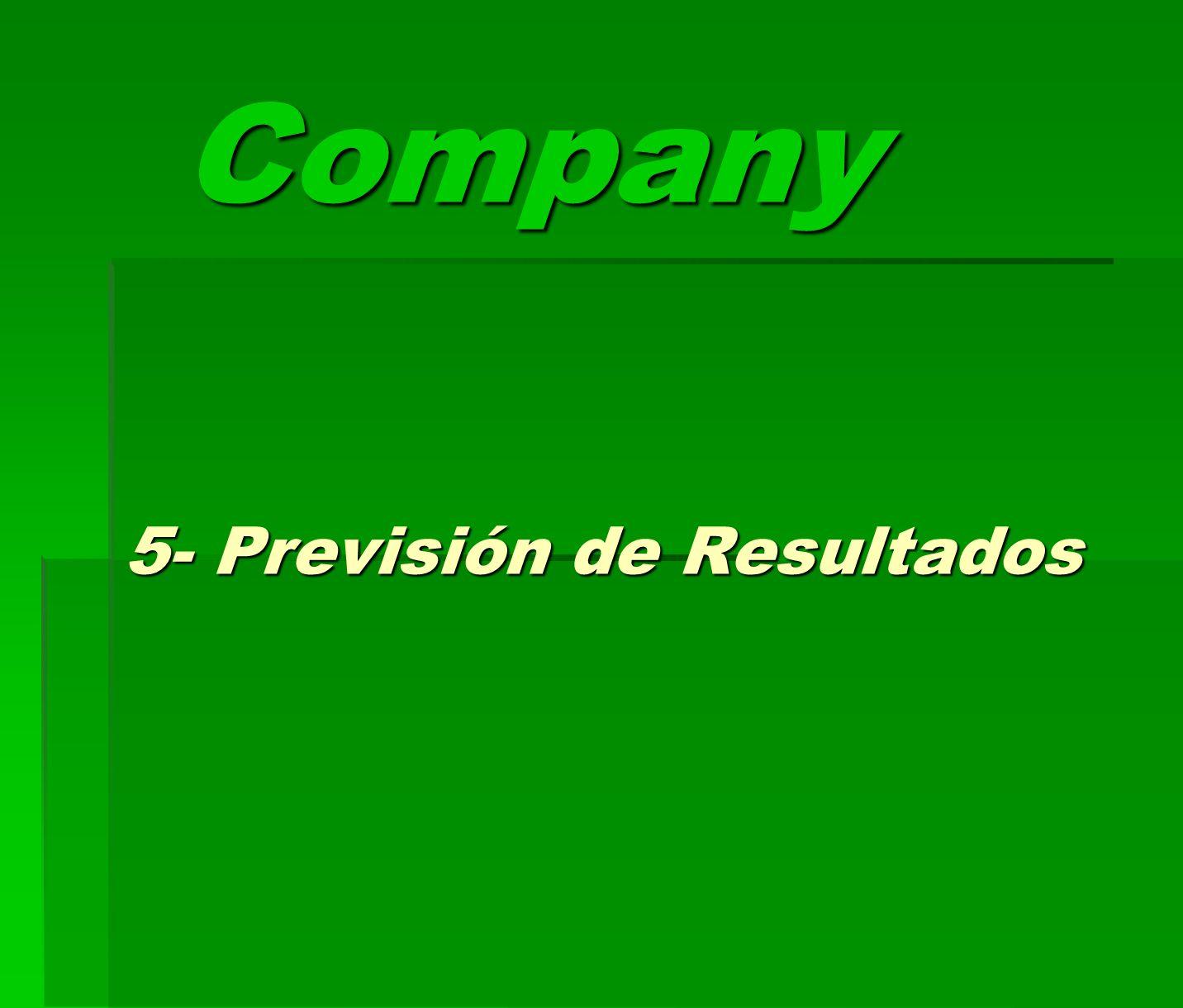 Company 5- Previsión de Resultados
