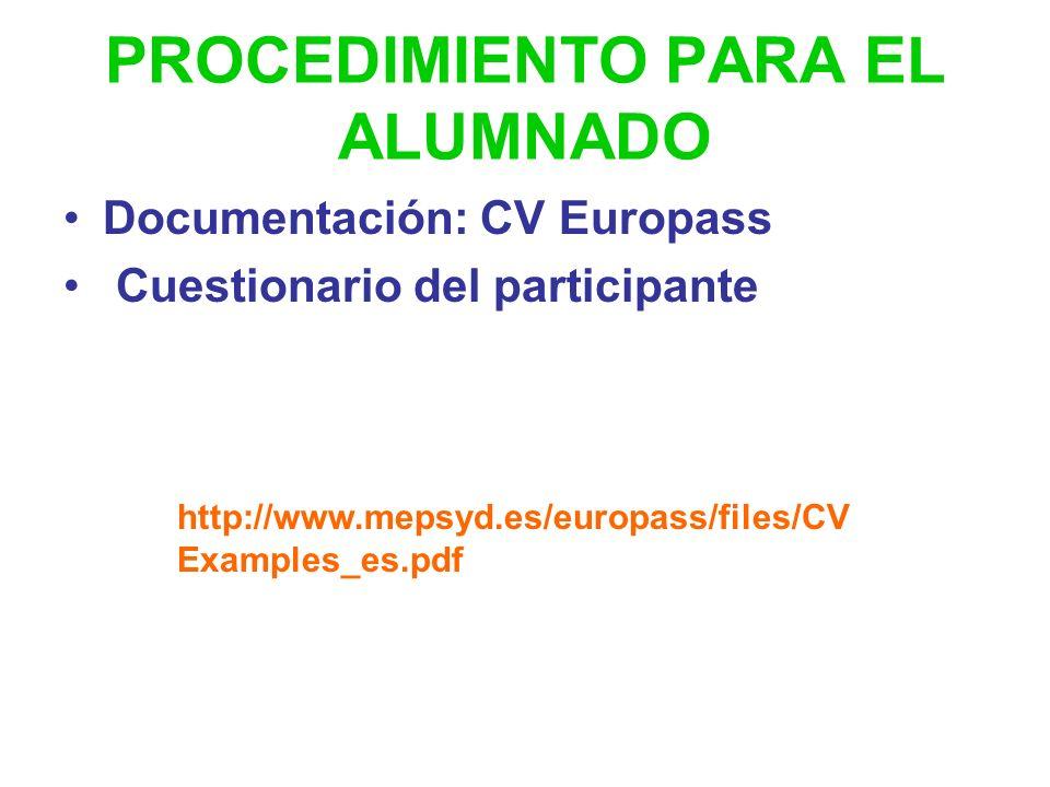 PROCEDIMIENTO Convocatoria pública en BOJA en la actualidad orden de 7 de abril de 2008, BOJA nº 89. Presentación de solicitudes en el centro del 10 a