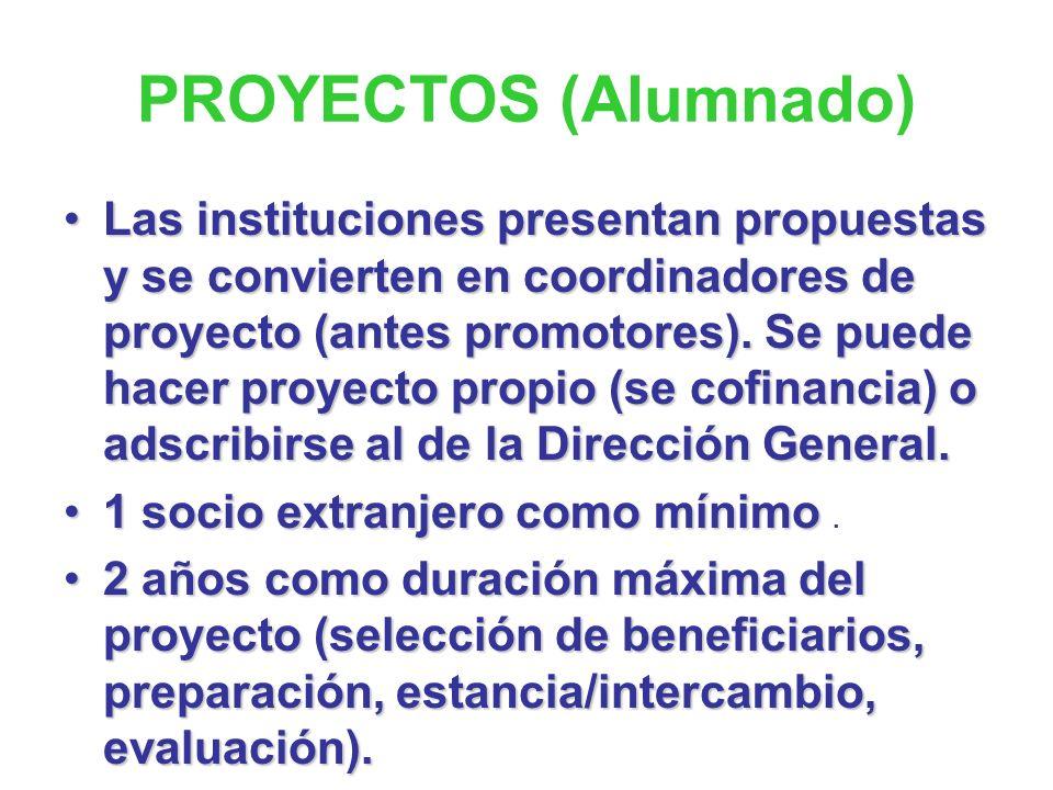 Programa de Aprendizaje Permanente Comenius Educación escolar Erasmus Educación Superior (F. P. de nivel terciario) Leonardo da Vinci Formación Profes