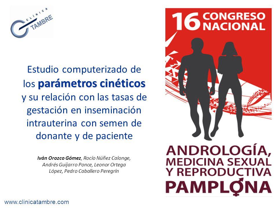 Introducción www.clinicatambre.com VCL: Velocidad curvilínea (µm/s).