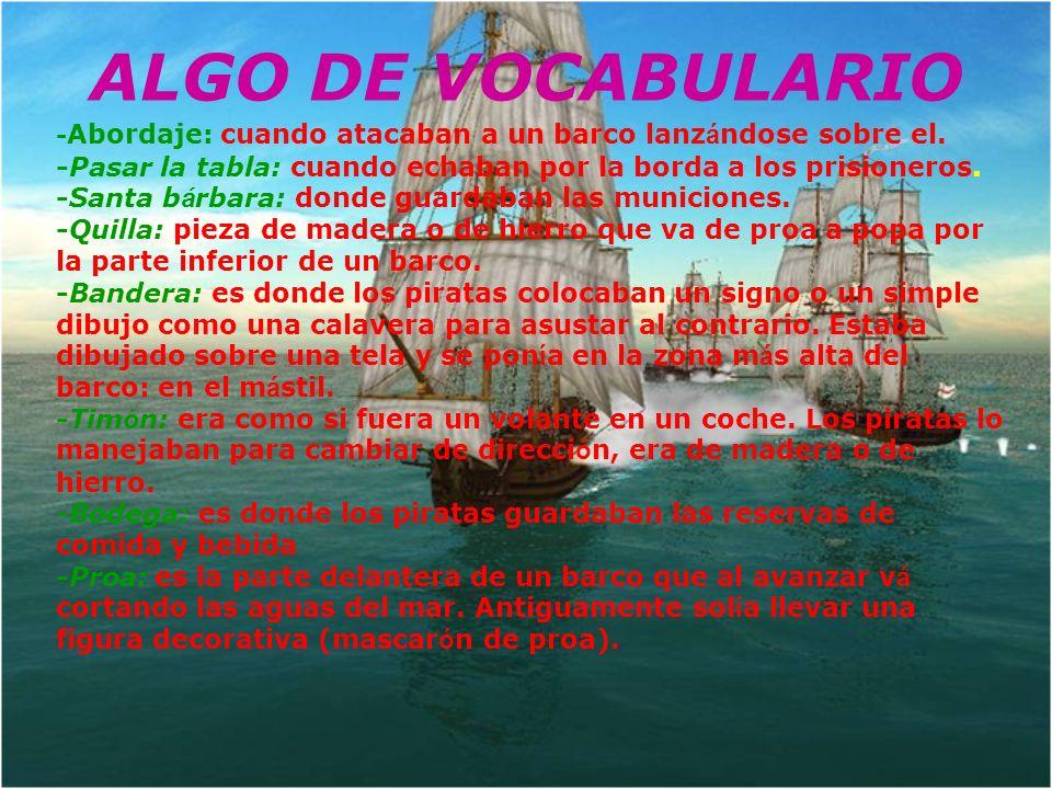 -Popa: la parte trasera de un buque -Babor: en un barco y en cualquier medio de transporte en el agua, es el lado izquierdo en el sentido de la marcha o, m á s exactamente, el lado izquierdo mirando hacia proa.