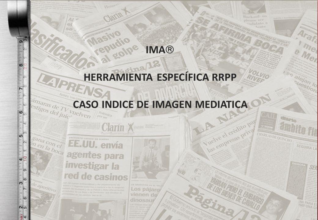 IMA HERRAMIENTA ESPECÍFICA RRPP CASO INDICE DE IMAGEN MEDIATICA