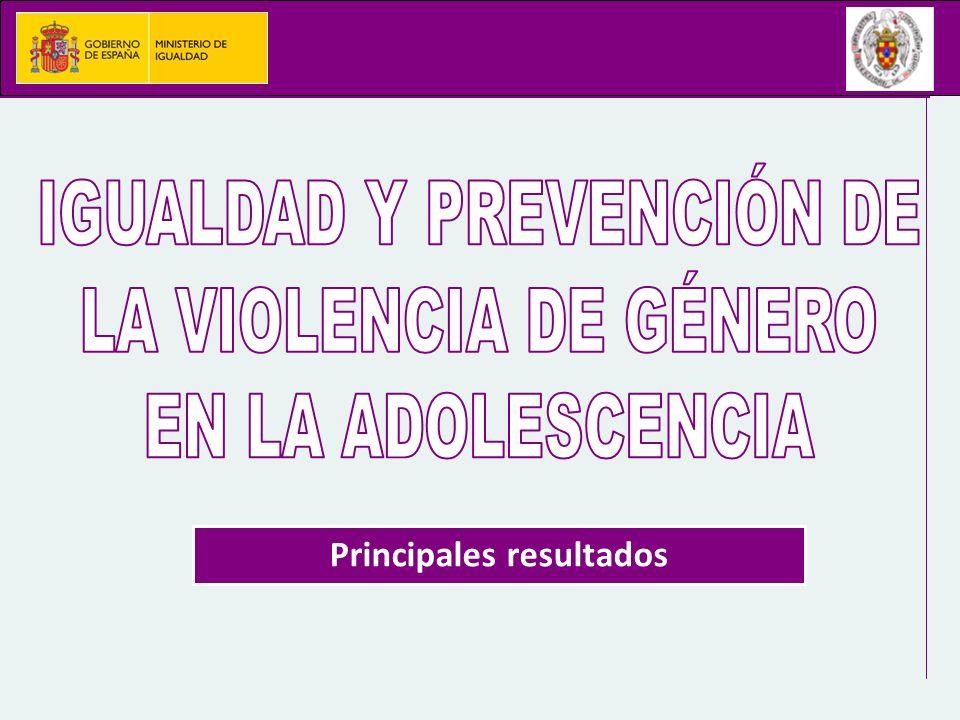 Estudio realizado en el marco de un convenio entre el Ministerio de Igualdad la Universidad Complutense de Madrid Colaboración de todas las Comunidades Autónomas y del Ministerio de Educación