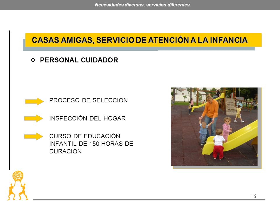 16 Necesidades diversas, servicios diferentes PROCESO DE SELECCIÓN INSPECCIÓN DEL HOGAR CURSO DE EDUCACIÓN INFANTIL DE 150 HORAS DE DURACIÓN CASAS AMI