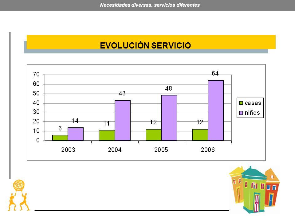 23 Necesidades diversas, servicios diferentes EVOLUCIÓN SERVICIO