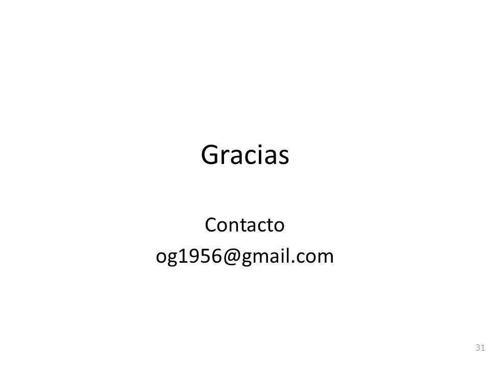 Gracias Contacto og1956@gmail.com 31
