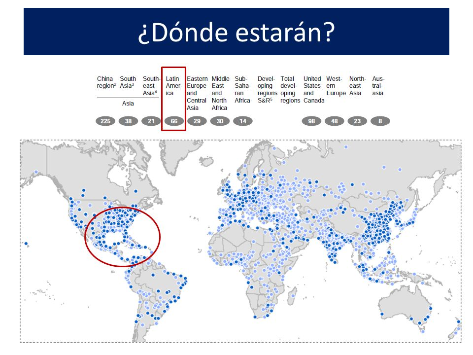 Cómo vienen en LAC En 2025 Las top: México, São Paulo, Buenos Aires, Río de Janeiro, Lima, Bogotá, Santiago y Monterrey Ciudades medias con mayor potencial: Panamá, Viña del Mar, Curitiba, Florianópolis, Toluca, Mérida y Cartagena.
