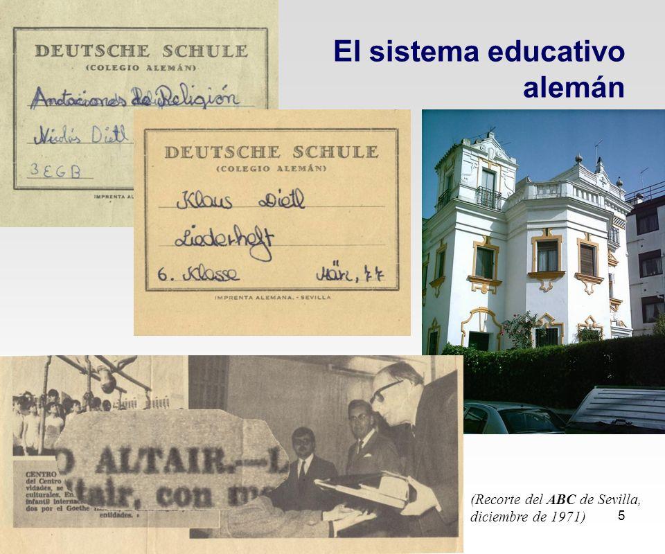 El Sistema Dual de Formación Profesional 5 El sistema educativo alemán (Recorte del ABC de Sevilla, diciembre de 1971)
