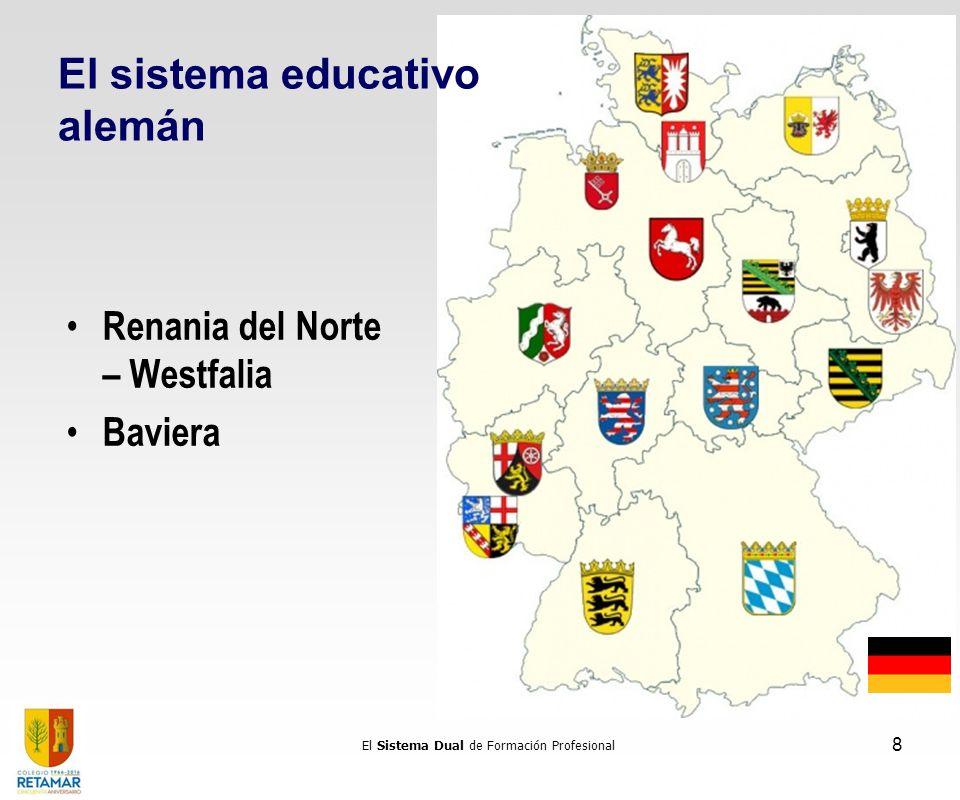 El Sistema Dual de Formación Profesional 8 Renania del Norte – Westfalia Baviera El sistema educativo alemán